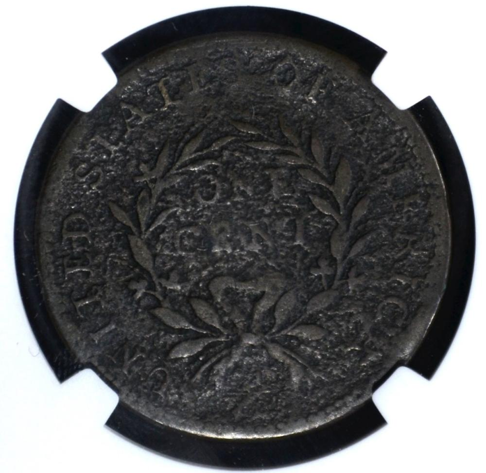 Lot 427: 1793 WREATH CENT NGC VF DETAILS CORROSION