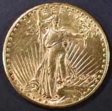 Lot 433: 1924 $20 GOLD ST. GAUDENS CH BU