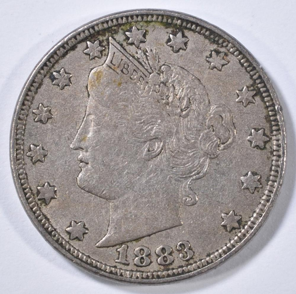 Lot 440: 1883 LIBERTY HEAD NICKEL WITH CENTS XF