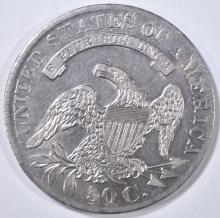 Lot 448: 1829 DRAPED BUST HALF DOLLAR AU