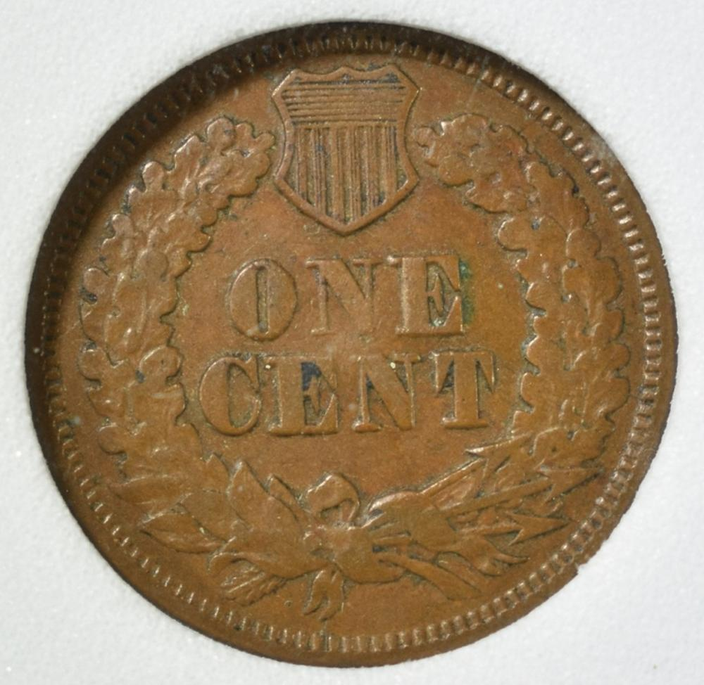 Lot 454: 1867 INDIAN CENT, EMGC XF