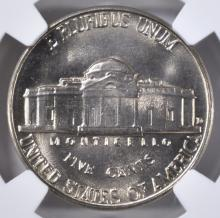 Lot 459: 1952-D JEFFERSON NICKEL NGC MS-67