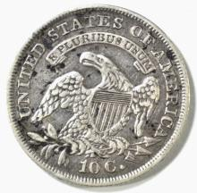 Lot 467: 1836 CAPPED BUST DIME, XF+