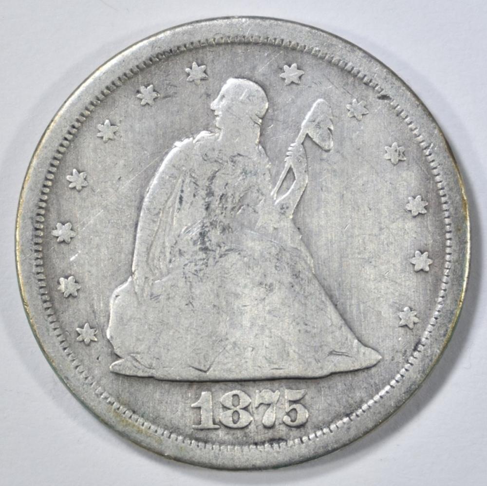 Lot 469: 1875-S 20 CENT PIECE GOOD