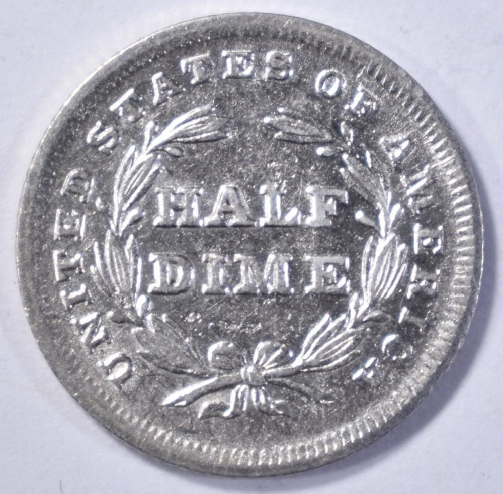 Lot 464: 1838 LIBERTY SEATED HALF DIME AU/BU