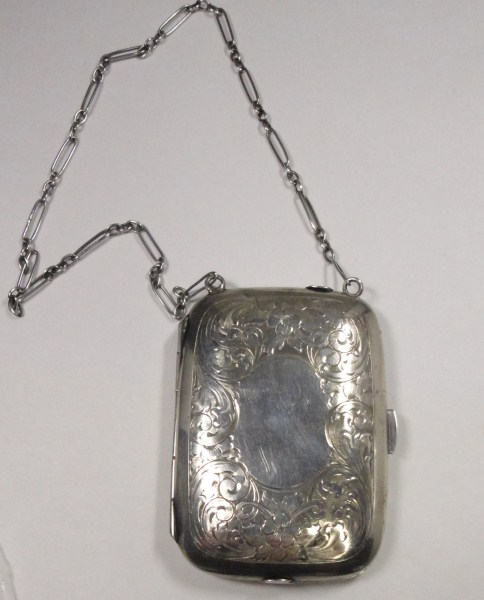 Antique Victorian Calling Card Case - Solid Sterling Silver. Several Compartment