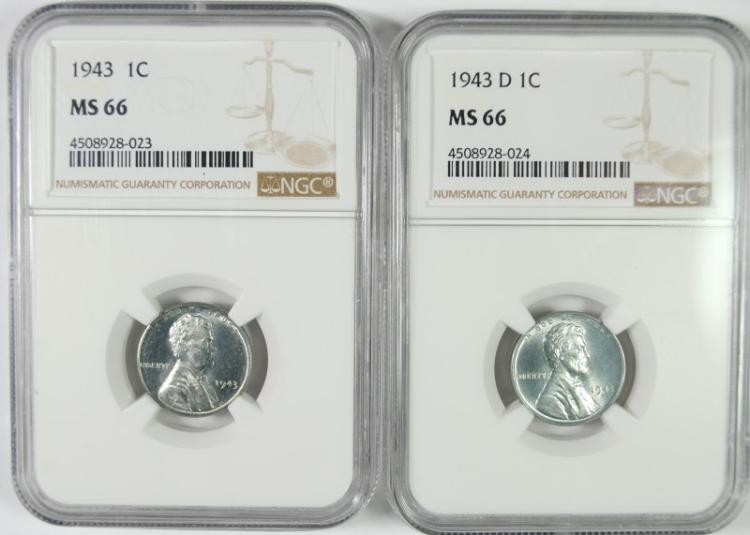 1943 & 1943-D LINCOLN