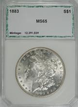 1883 MORGAN SILVER DOLLAR, PCI GEM BU