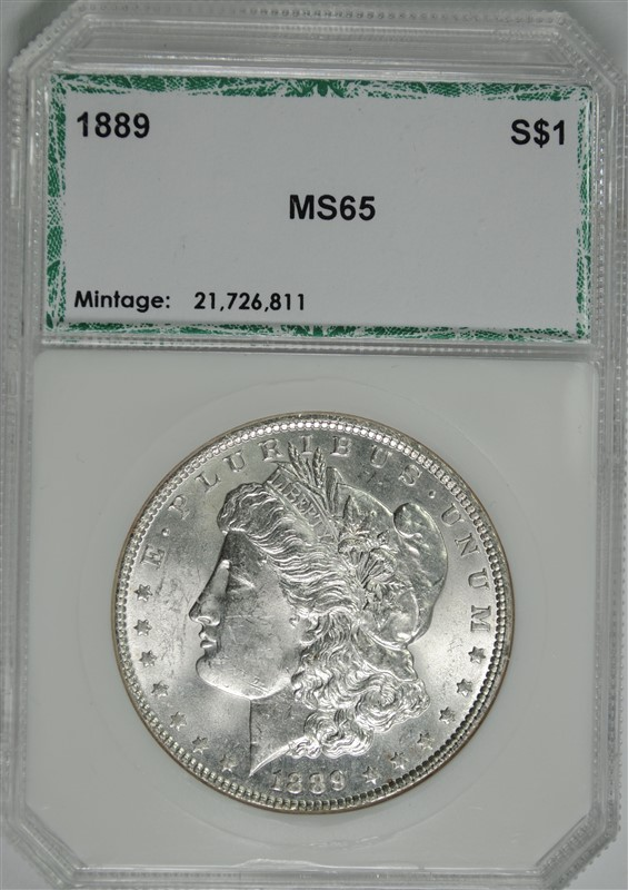 1889 MORGAN SILVER DOLLAR PCI, GEM BU