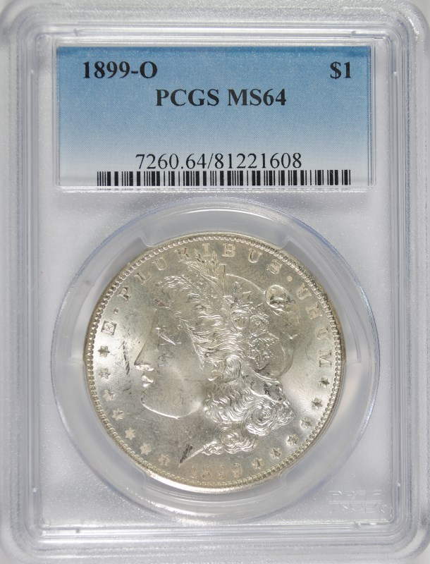 1899-O MORGAN DOLLAR PCGS MS-64