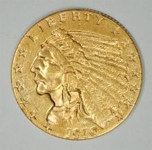 1910 $2.50 GOLD INDIAN BU