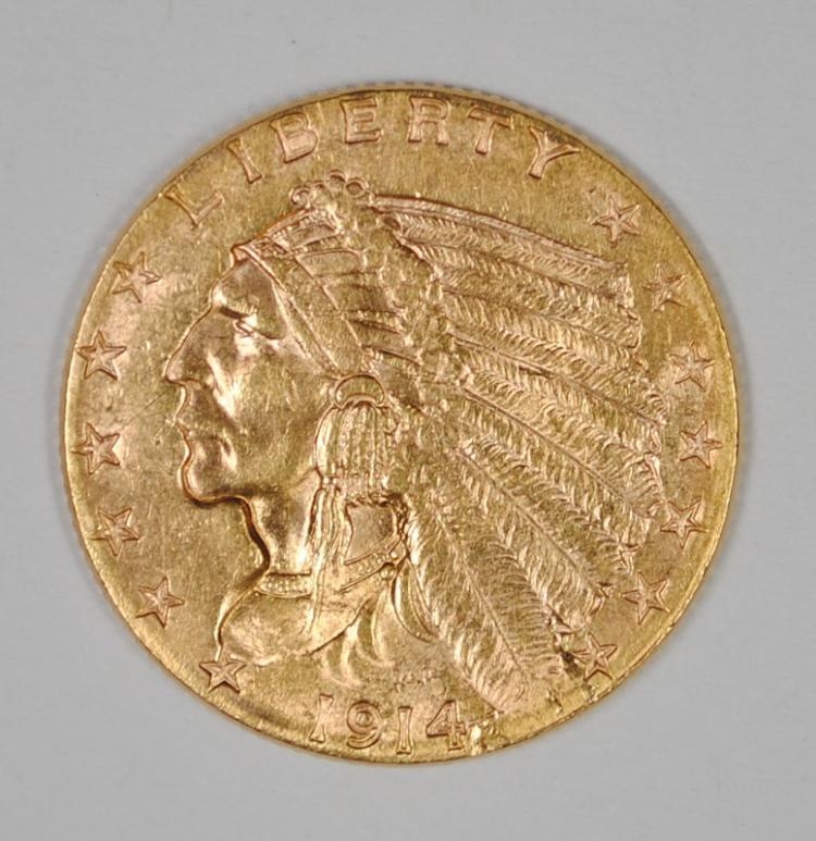 1914 $2.50 GOLD INDIAN BU