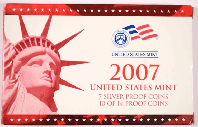 2007 U.S. SILVER PROOF SET - BOX/COA