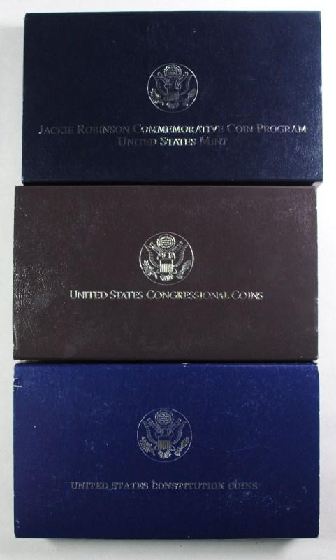 U.S. COMMEMS; '87 CONSTITUTION PF SILVER $, '89 CONGRESSIONAL 2pc PF SET, '97