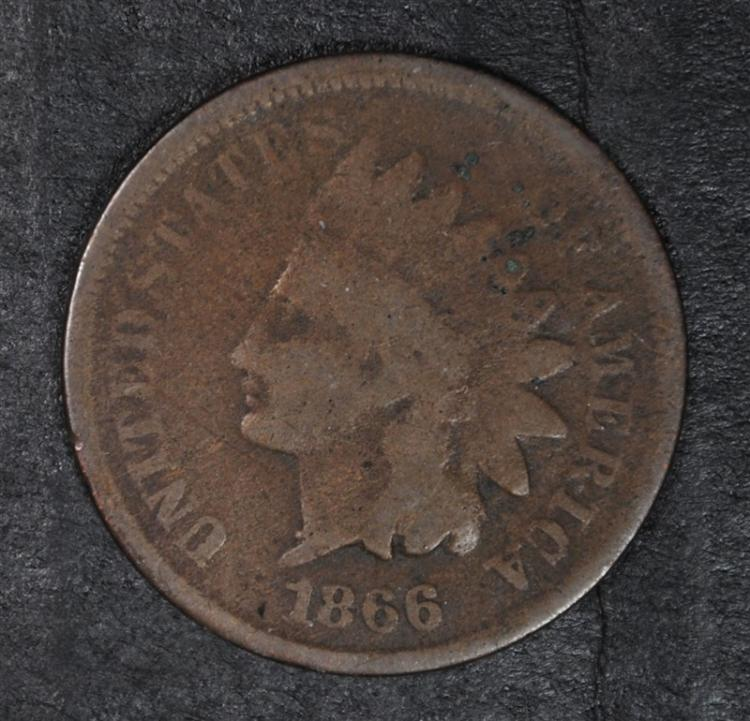 1866 INDIAN HEAD CENT, VG+  KEY!