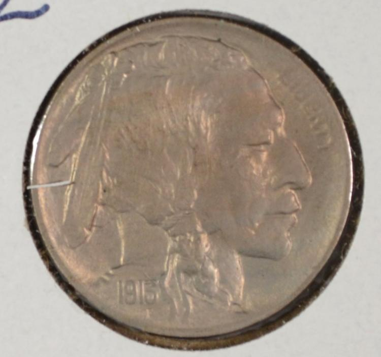 1913 TYPE 2 BUFFALO NICKEL GEM BU LIGHT TONED