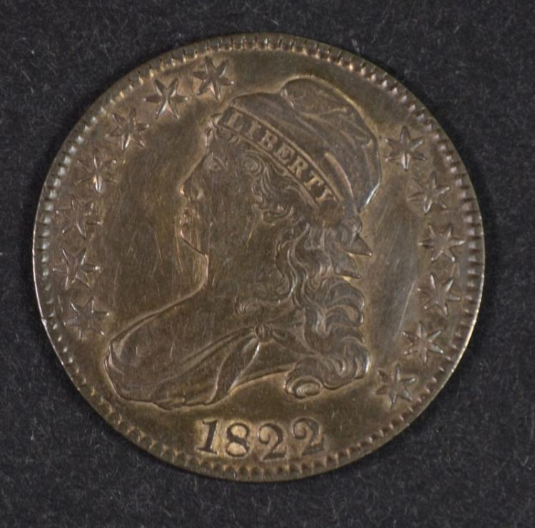 1822 BUST HALF DOLLAR AU  BETTER DATE