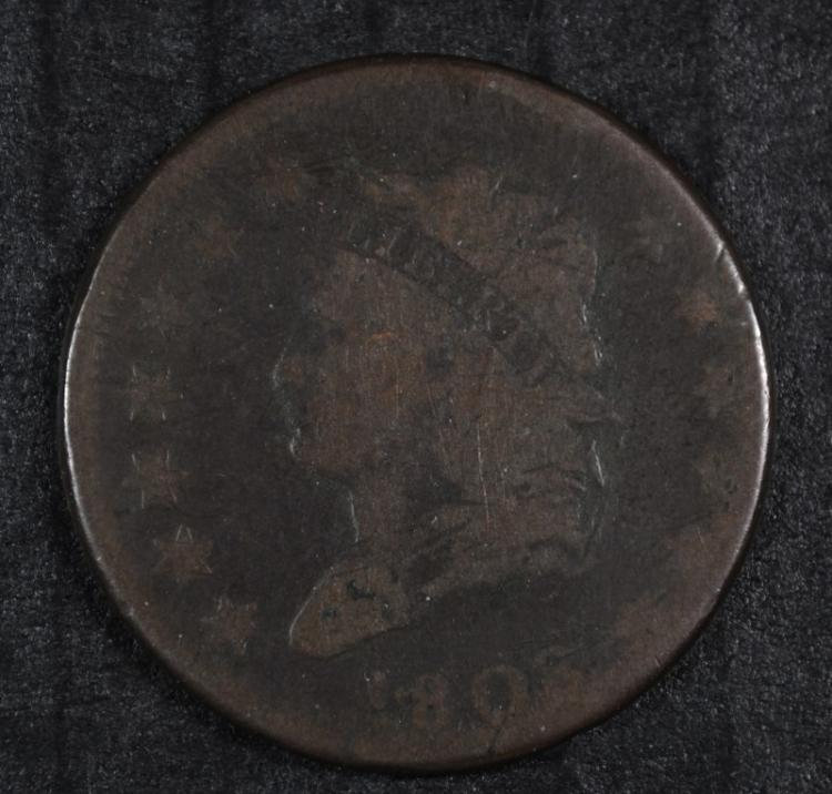 1808 LARGE CENT VG NICE