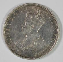 1918 AUSTRALIA SHILLING XF, 92.5% SILVER .1680 OZ, KM#26