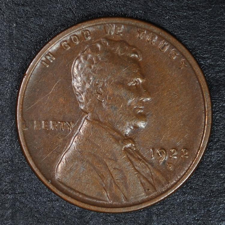 1922-D LINCOLN HEAD CENT, AU  KEY DATE!