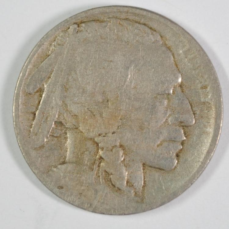 1913-D TYPE-2 BUFFALO NICKEL, VG  KEY DATE!