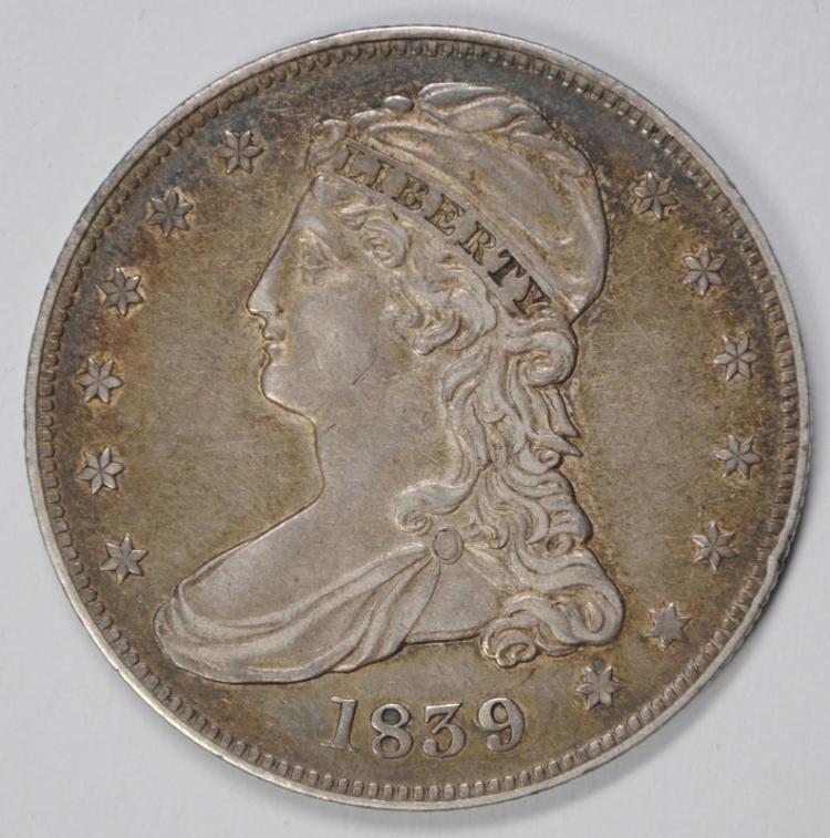 1839 BUST HALF DOLLAR,  AU