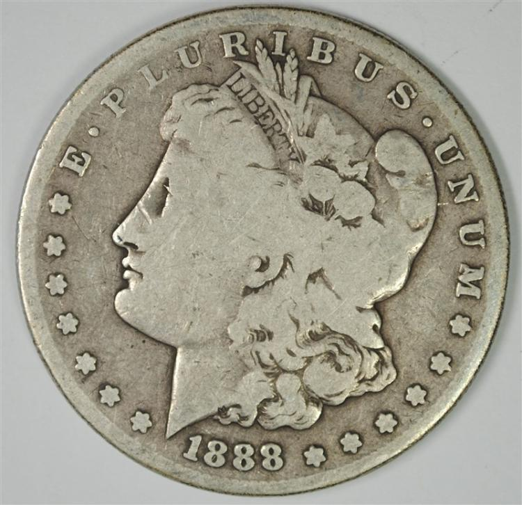 1888-S MORGAN SILVER DOLLAR, G/VG  BETTER DATE