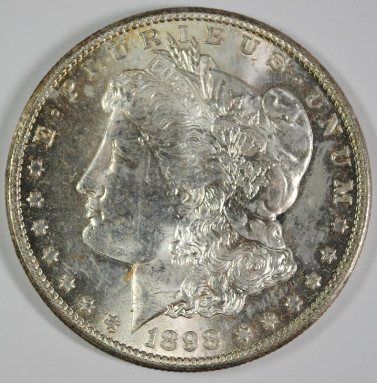 1898-O MORGAN SILVER DOLLAR, CHOICE BU+