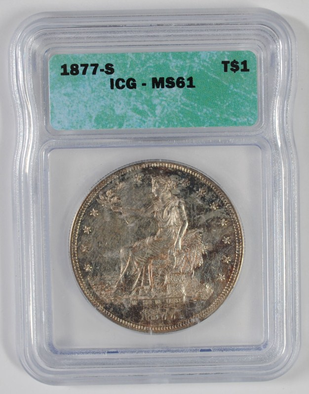 1877-S TRADE DOLLAR, ICG MS-61
