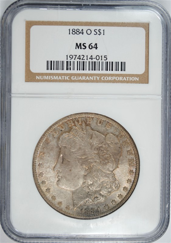 1884-O MORGAN DOLLAR NGC MS-64