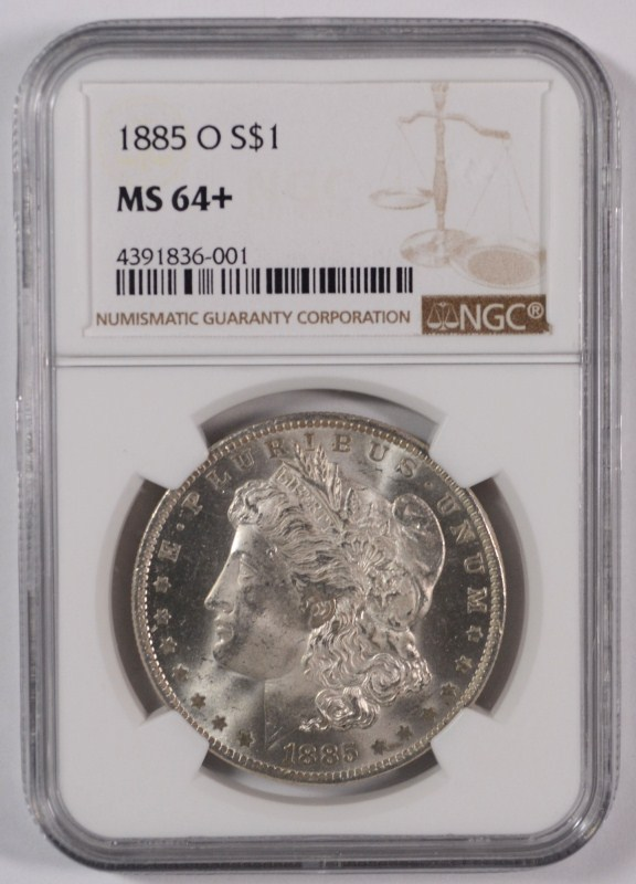1885-O MORGAN DOLLAR NGC MS-64+