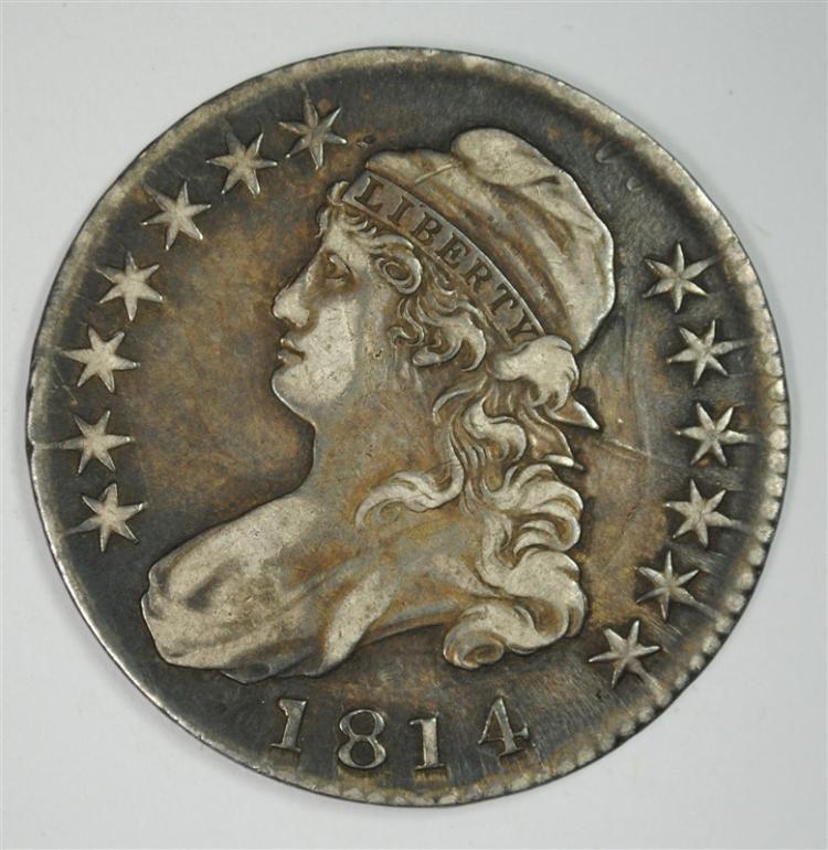 1814 BUST HALF DOLLAR,  XF