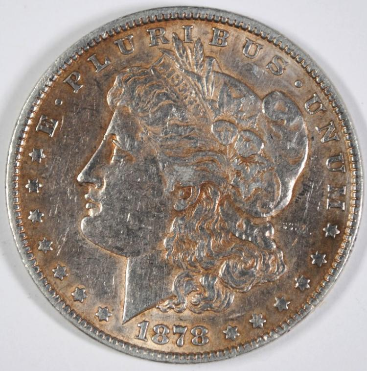 1878 7TF MORGAN SILVER DOLLAR, XF