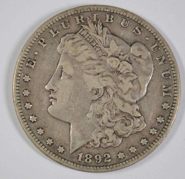 1892-S MORGAN SILVER DOLLAR FINE / VF - KEY DATE