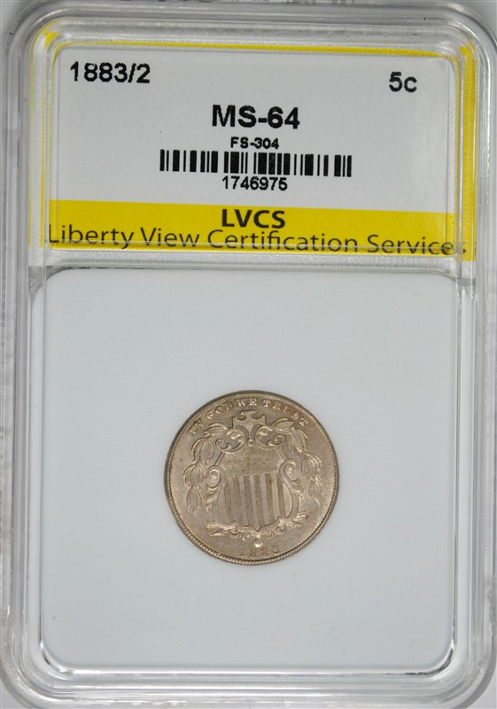 1883/2 LIBERTY NICKEL FS-304 LVCS CH/GEM BU  RARE OVER/DATE!!!