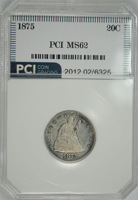 1875 20 CENT PIECE, PCI CHOICE BU   NICE!!!