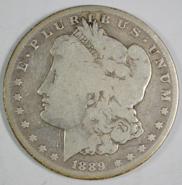 1889-S MORGAN SILVER DOLLAR, G/VG