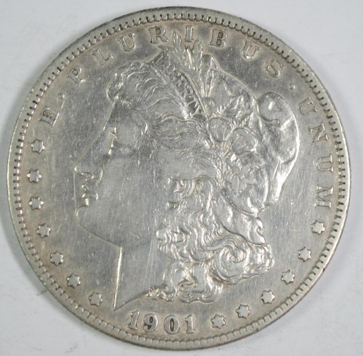1901-S MORGAN SILVER DOLLAR, XF