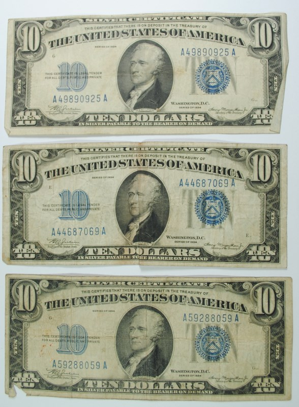 3 - 1934 $10