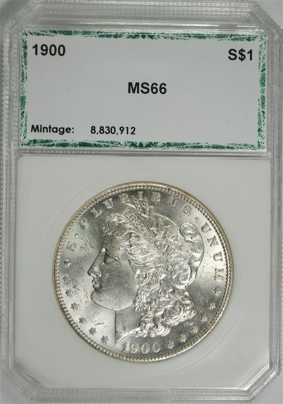 1900 MORGAN SILVER DOLLAR, PCI SUPERB GEM BU