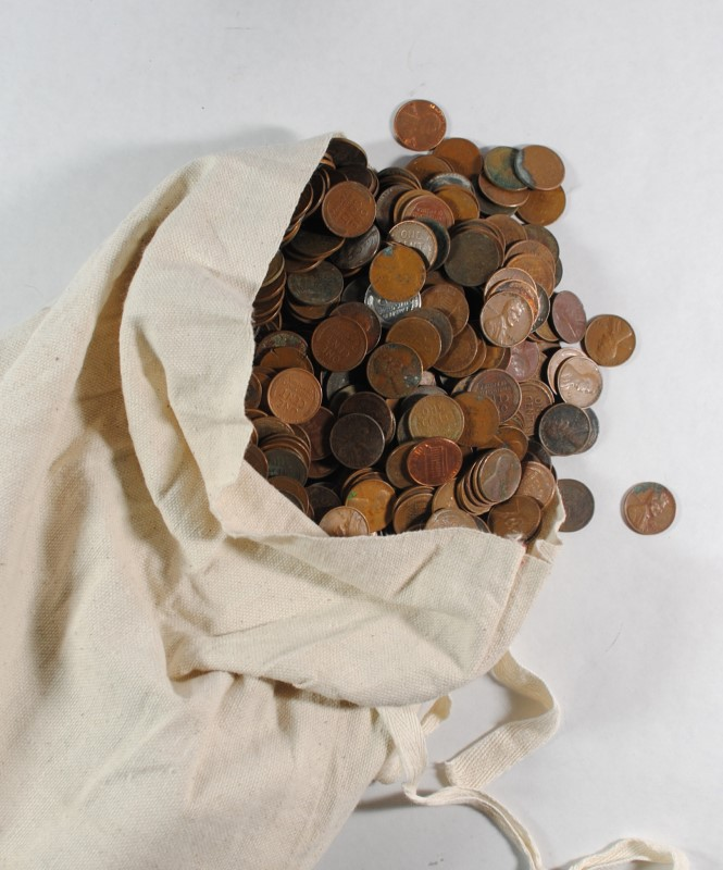 UNSEARCHED BAG OF 5000 WHEAT CENTS ( $50.00 )