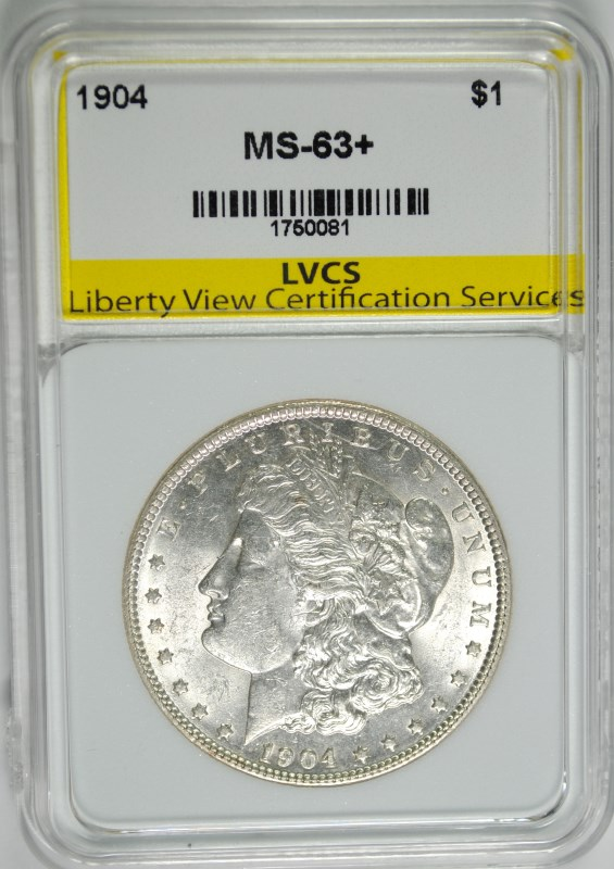 1904 MORGAN SILVER DOLLAR LVCS CH/BU+