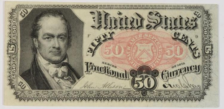 1875 FIFTY CENTS 5TH ISSUE FRACTIONAL CURRENCY CH.XF