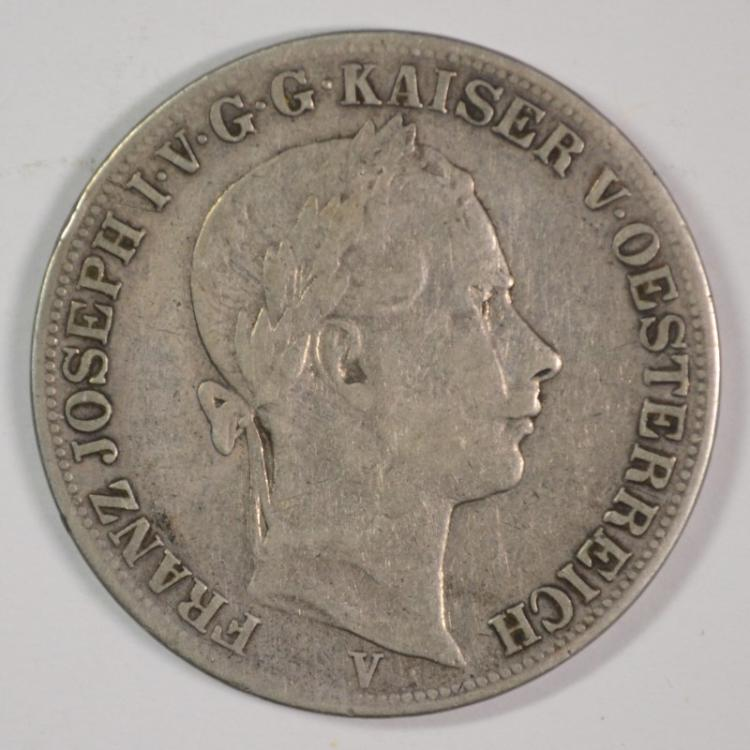 1861 Austria Thaler, 90% Silver, .5359 ozt, KM#2244