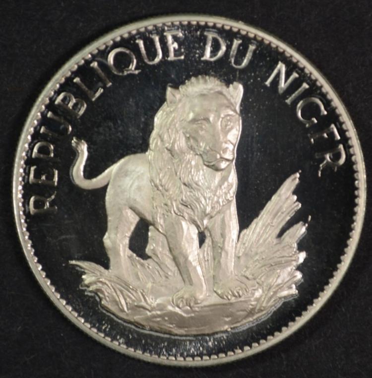 1968 NIger, 10 Francs,PROOF, 1,000 mintage, 90 % Silver, .5845ozt, KM #8.1