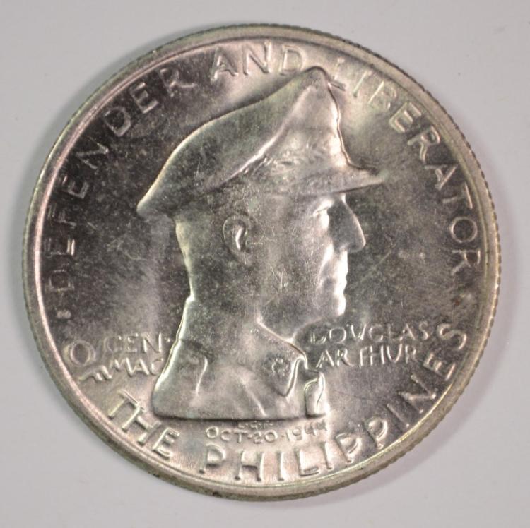 1947-S Philippines Peso, Gem BU, 90% Silver, .57087ozt, KM#185