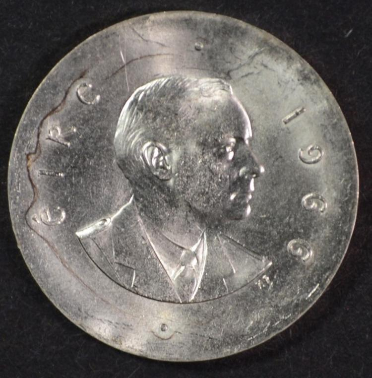 1966 Ireland 10 Shillings, 83.3% Silver, .4858ozt