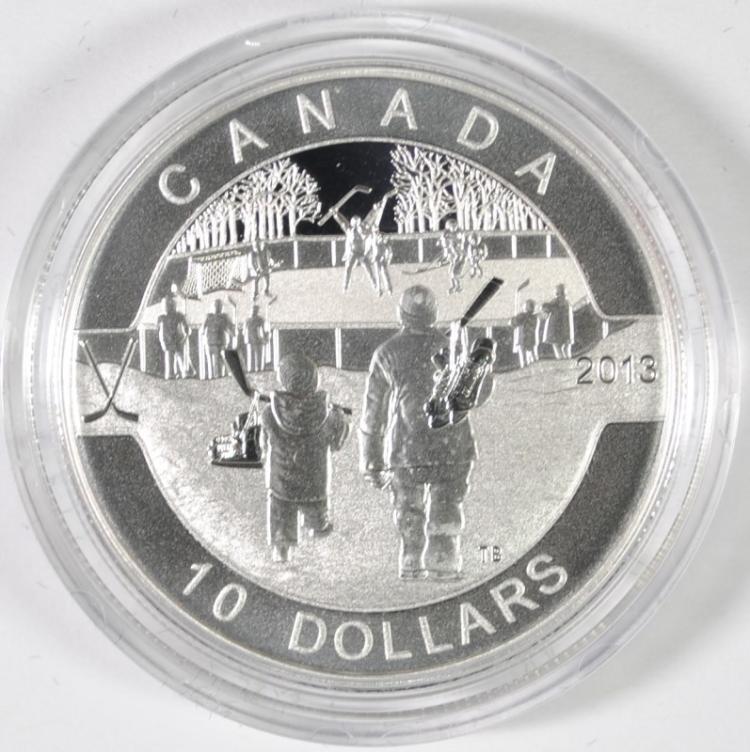 Canada 2013 $10 Fine Silver Coin Hockey (O'Canada Series)