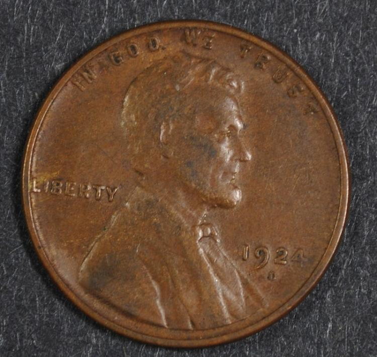 1924-D LINCOLN WHEAT CENT XF