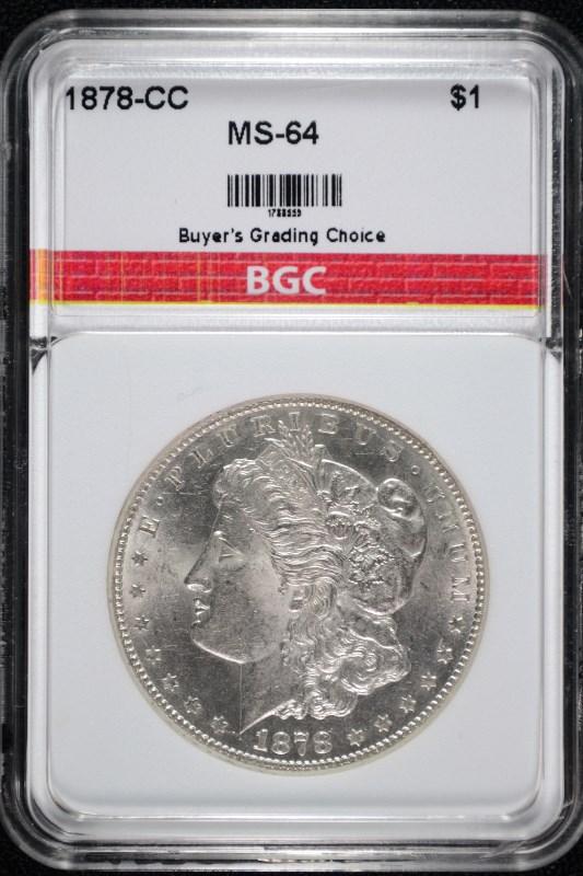 1878-CC MORGAN SILVER DOLLAR BGC CH BU